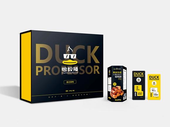 鸭教授ope体育客服电话升级(包装设计;空间SI设计;线上线下相结合销售模式打造)